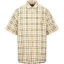 ショッピンググーン ヌーン グーンズ NOON GOONS メンズ シャツ トップス【checked shirt】Light yellow