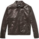 トーマス マイヤー TOMAS MAIER メンズ レザージャケット アウター【leather jacket】Dark brown