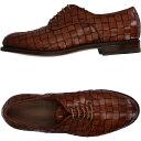 ショッピングブラウン サントーニ SANTONI メンズ シューズ・靴 【laced shoes】Brown