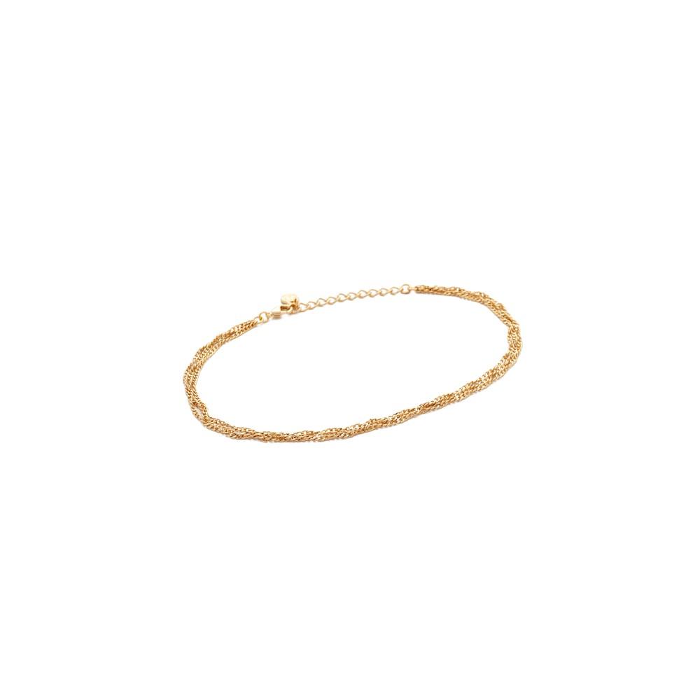 クローバーポスト Cloverpost レディース アクセサリー アンクレット【Twist Three Anklet】Gold クローバーポスト レディース アクセサリー アンクレット 【サイズ交換無料】