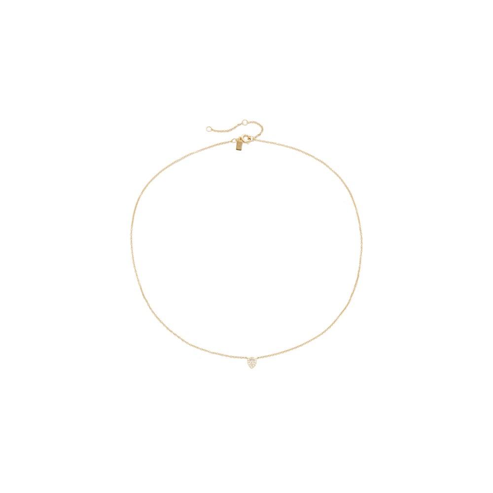 イーエフコレクション EF Collection レディース アクセサリー ネックレス【Diamond Teardrop Choker Necklace】Gold イーエフコレクション レディース アクセサリー ネックレス 【サイズ交換無料】
