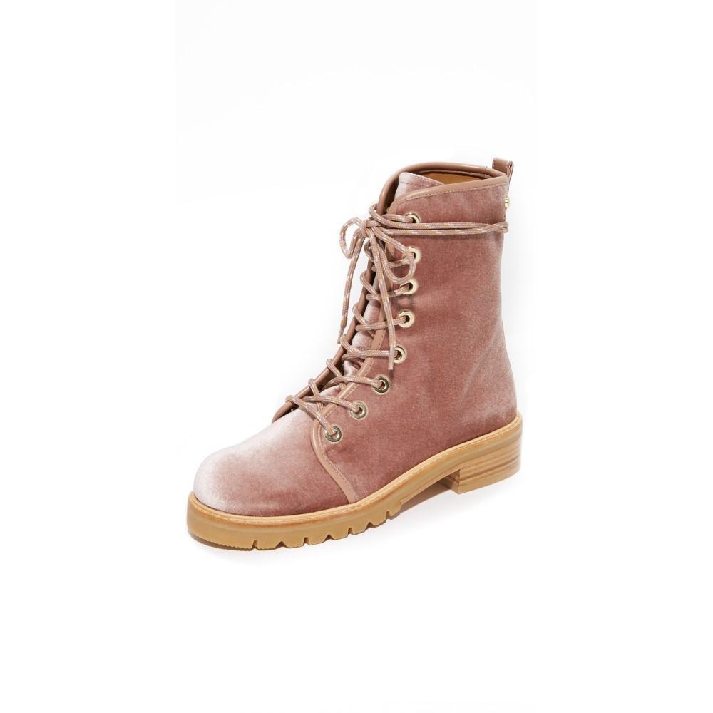 スチュアート ワイツマン レディース シューズ・靴 ブーツ【Metermaid Combat Boots】Candy スチュアート ワイツマン レディース シューズ・靴 ブーツ 【サイズ交換無料】
