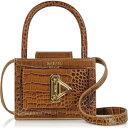 サラ Salar レディース ハンドバッグ バッグ【Loulou Croco Embossed Tan Leather Top Handle Bag】Tan