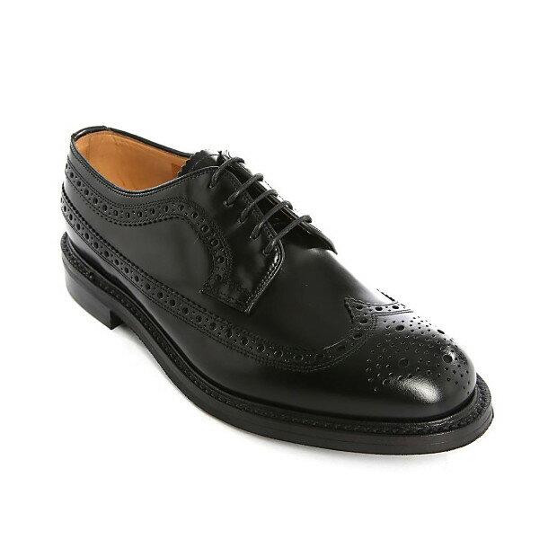 ローク LOAKE メンズ シューズ・靴 ビジネスシューズ【Sovereign Longwing Black Leather Derbies】,特集