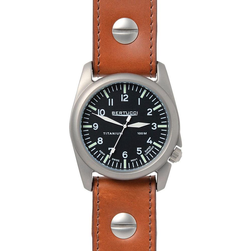 ベルトゥッチウォッチ Bertucci Watches メンズ アクセサリー 腕時計【A-4T Aero Watch】Black Dial/Vintage Tan With Post Screws ベルトゥッチウォッチ メンズ アクセサリー 腕時計 【サイズ交換無料】
