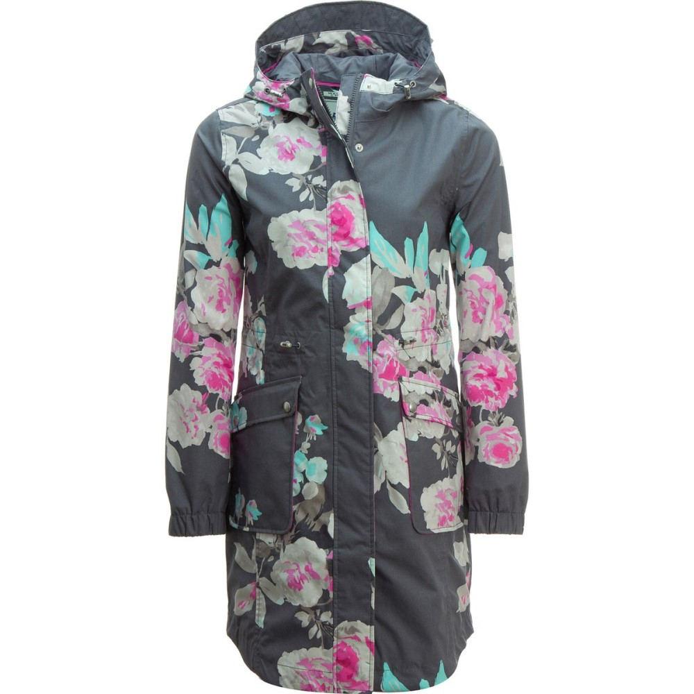 ジュールズ Joules レディース アウター ジャケット【Raina Print Jacket】Grey Bo Bloom ジュールズ レディース アウター ジャケット 【サイズ交換無料】