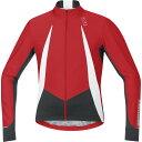 ゴアバイクウェア Gore Bike Wear メンズ サイクリング ウェア【Oxygen WindStopper Jersey】Red / Black