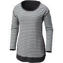 コロンビア レディース トップス 長袖Tシャツ【Winter Adventure Long - Sleeve T - Shirt】Light Grey Stripe
