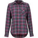 マーモット Marmot レディース ブラウス・シャツ フランネルシャツ トップス【Maggie Midweight Flannel Long - Sleeve Shirt】Dark Steel