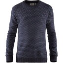 ショッピングノルディック フェールラーベン Fjallraven メンズ ニット・セーター トップス【Ovik Nordic Sweater】Dark Navy