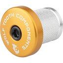 ウルフトゥース Wolf Tooth Components ユニセックス 自転車 【Compression Plug With Integrated Spacer Stem Cap】Gold
