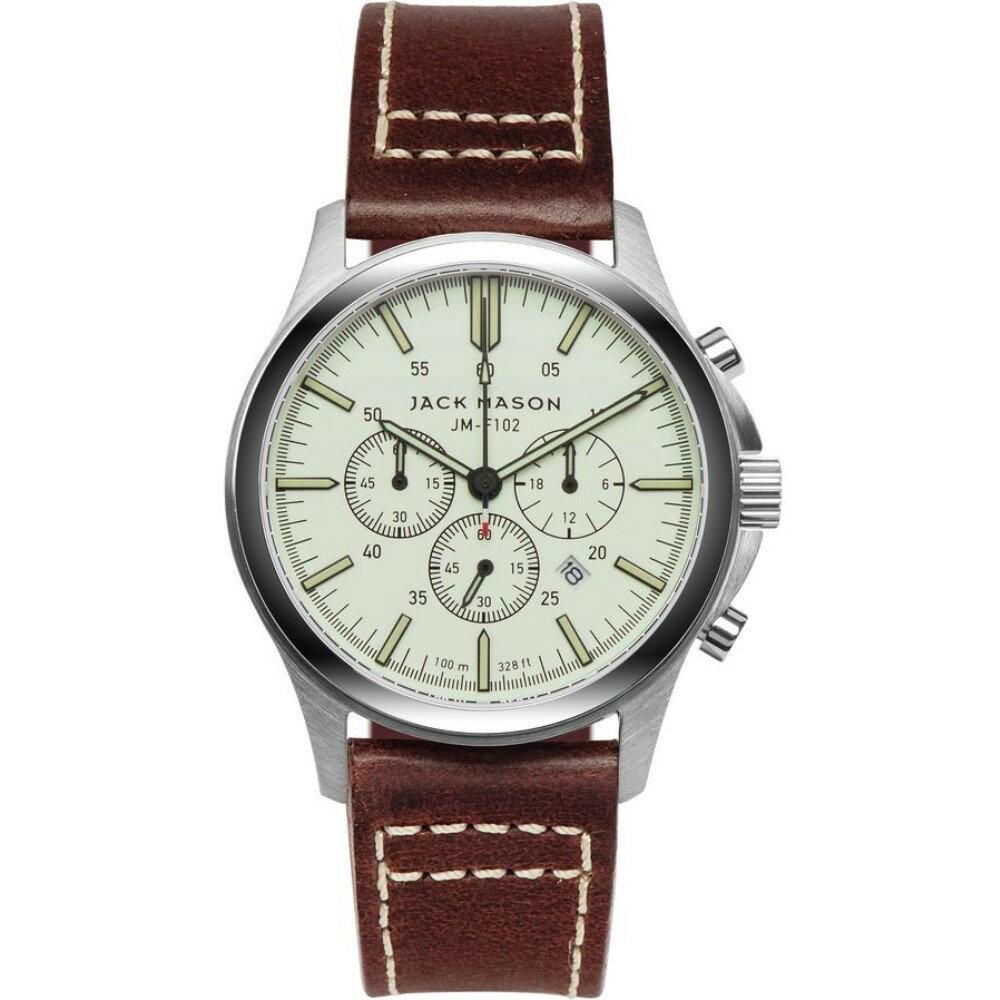 ジャックメーソン Jack Mason メンズ アクセサリー 腕時計【F102 Field Collection Leather Watch】Khaki Dial/Saddle Leather ジャックメーソン メンズ アクセサリー 腕時計 【サイズ交換無料】