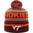 е╚е├е╫еке╓е╢еяб╝еые╔ Top of the World есеєе║ е╦е├е╚ е▌еєе▌еє е╙б╝е╦б╝ ╦╣╗╥б┌Virginia Tech Hokies Maroon Buddy Cuffed Pom Knit Beanieб█
