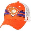 ショッピングORANGE ゼファー Zephyr メンズ キャップ 帽子【Clemson Tigers Orange/White State Flag Adjustable Hat】