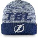ファナティクス Fanatics メンズ ニット ビーニー 帽子【NHL Tampa Bay Lightning Clutch Cuffed Knit Beanie】