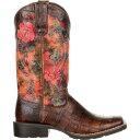 ショッピングf-05d デュランゴ Durango レディース ブーツ ウェスタンブーツ シューズ・靴【Mustang Exotic Rose Western Boots】Gator Emboss/Floral Rose