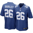 ナイキ Nike メンズ トップス 【Saquon Barkley #26 New York Giants Home Game Jersey】