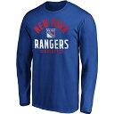 ファナティクス Fanatics メンズ トップス 【NHL New York Rangers Battle Arc Royal Long Sleeve Shirt】
