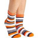 フィールドアンドストリーム Field & Stream ユニセックス ソックス インナー・下着【Team RF Stripe Cozy Cabin Crew Socks】Navy/Orange