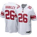 ナイキ Nike メンズ トップス 【Saquon Barkley #26 New York Giants Away Game Jersey】