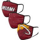 ショッピングパック フォコ FOCO ユニセックス 帽子 3点セット【Adult Miami Heat 3-Pack Facemasks】