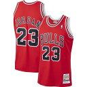ショッピングjordan ミッチェル&ネス Mitchell & Ness メンズ トップス 【Chicago Bulls Michael Jordan #23 Authentic 1997-98 Red Jersey】