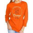 ショッピングゲーム ゲームデイ クチュール Gameday Couture レディース 長袖Tシャツ トップス【Syracuse Orange Orange Varsity Long Sleeve T-Shirt】