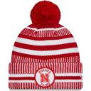 ショッピングビーニー ニューエラ New Era メンズ ニット ポンポン ビーニー 帽子【Nebraska Cornhuskers Scarlet Sport Knit Pom Beanie】