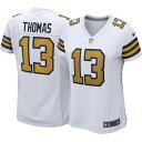 ショッピングトーマス ナイキ Nike レディース トップス 【New Orleans Saints Michael Thomas #13 White Game Jersey】
