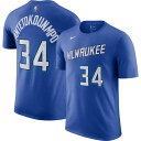 ショッピングedition ナイキ Nike メンズ Tシャツ トップス【2020-21 City Edition Milwaukee Bucks Giannis Antetokounmpo #34 Cotton T-Shirt】