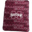 ロゴ Logo ユニセックス 雑貨 ブランケット【Mississippi State Bulldogs 50'' x 60'' Classic Fleece Blanket】