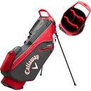 ショッピングキャロウェイ キャロウェイ Callaway ユニセックス ゴルフ スタンドバッグ【2020 HyperLite Zero Stand Golf Bag】Charcoal/Red