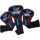 チームゴルフ Team Golf ユニセックス ゴルフ 3点セット【Houston Texans 3-Pack Contour Headcovers】