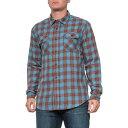 ショッピングBURNER グラミチ Gramicci メンズ シャツ フランネルシャツ トップス【Vision Blue Burner Flannel Shirt - Long Sleeve】Vision Blue