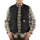 カーハート Carhartt メンズ ベスト・ジレ トップス【100740 Brookville Quilted Nylon Vest - Insulated】Black