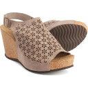ショッピングウェッジソール A. GIANNETTI レディース サンダル・ミュール ウェッジソール シューズ・靴【made in italy wedge sandals - leather】Taupe