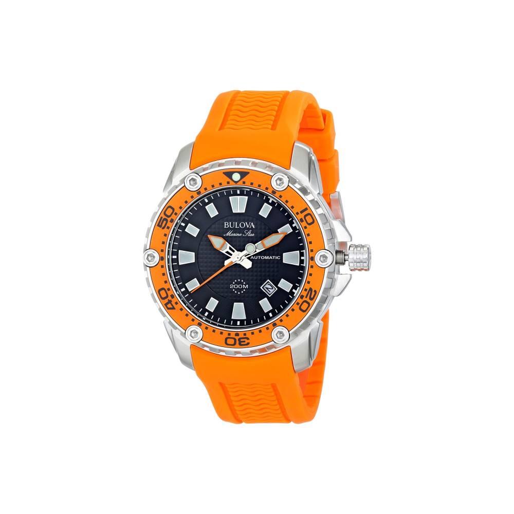 ブローバ Bulova メンズ アクセサリー 腕時計【Mens Marine Star - 98B207】Orange ブローバ メンズ アクセサリー 腕時計 【サイズ交換無料】