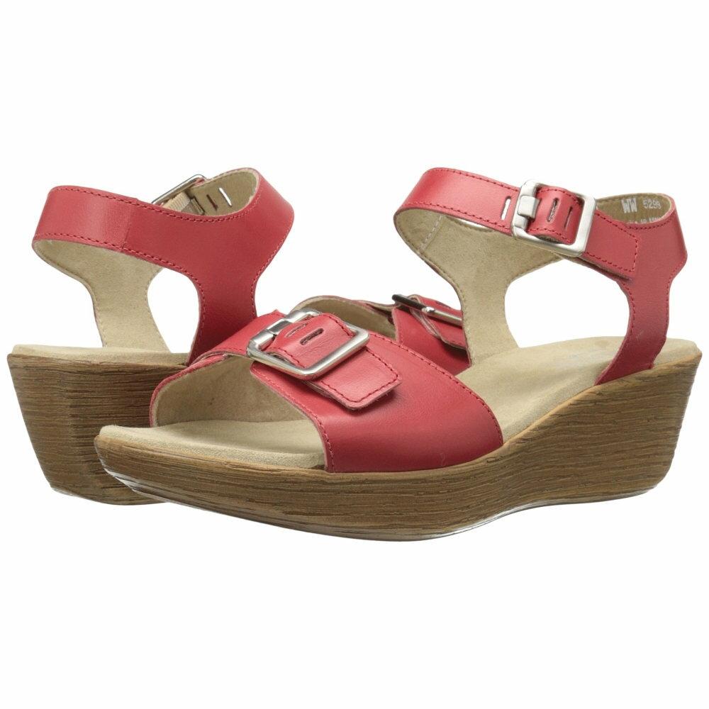 マンロー レディース シューズ・靴 サンダル・ミュール【Marci】Red Leather マンロー レディース シューズ・靴 サンダル・ミュール Red Leather 【サイズ交換無料】