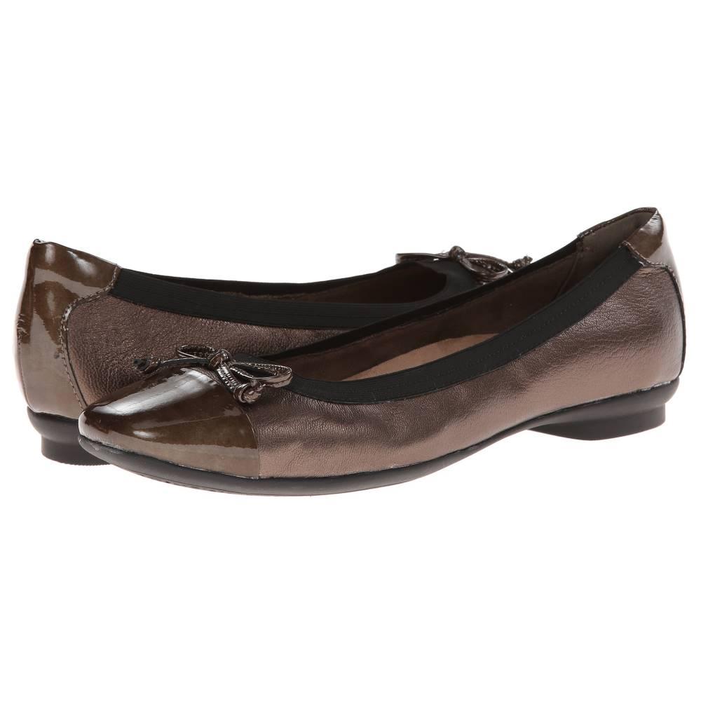 クラークス レディース シューズ・靴 スリッポン・フラット【Candra Glow】Bronze Leather クラークス レディース シューズ・靴 スリッポン・フラット Bronze Leather 【サイズ交換無料】【細い】