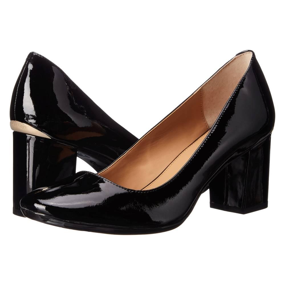 カルバンクライン レディース シューズ・靴 ヒール【Cirilla】Black Patent Leather カルバンクライン レディース シューズ・靴 ヒール Black Patent Leather 【サイズ交換無料】男性と女性同じ段落