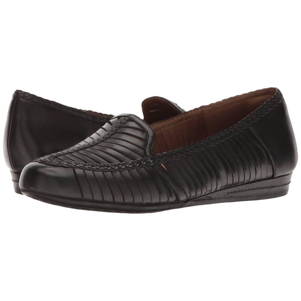 ロックポート レディース シューズ・靴 ローファー・オックスフォード【Cobb Hill Galway Woven Loafer】Black Leather ロックポート レディース シューズ・靴 ローファー・オックスフォード Black Leather 【サイズ交換無料】