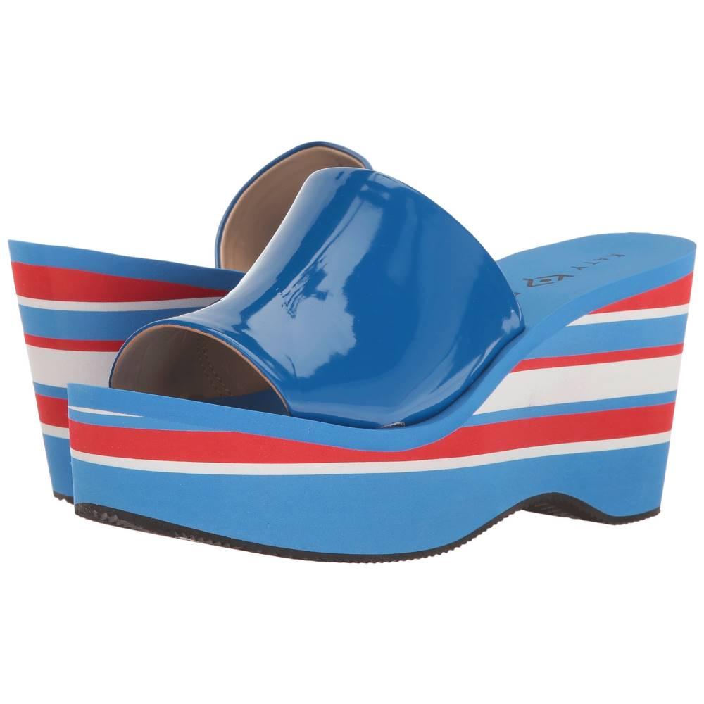 ケイティ ペリー レディース シューズ・靴 サンダル・ミュール【The Casey】Ocean Blue Smooth Patent ケイティ ペリー レディース シューズ・靴 サンダル・ミュール Ocean Blue Smooth Patent 【サイズ交換無料】火の
