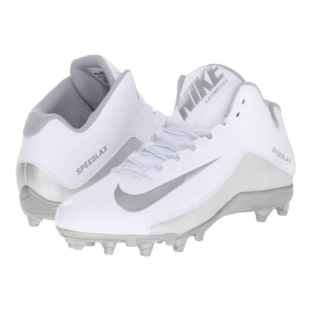 ナイキ メンズ ラクロス シューズ・靴【Speedlax 5】White/Metallic Silver/Metallic Silver