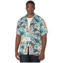 ショッピングガーデン トミー バハマ Tommy Bahama Big & Tall メンズ シャツ トップス【Garden Paradise Camp Shirt】Onyx