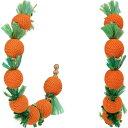 ケネスジェイレーン Kenneth Jay Lane レディース イヤリング・ピアス フープピアス ジュエリー・アクセサリー【2X2 C Shape Post Hoop Earrings with Oranges】Gold/Orange/Green