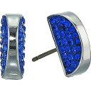 ショッピングスタッズ ケイト スペード Kate Spade New York レディース イヤリング・ピアス ジュエリー・アクセサリー【Sliced Scallops Pave Studs Earrings】Light Sapphire