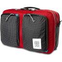 ショッピングpod トポ デザイン Topo Designs メンズ ビジネスバッグ・ブリーフケース バッグ【Global Briefcase 3-Day Bag】Red/Black Ripstop