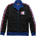 チャンピオン Champion メンズ ジャージ アウター【Tricot w/ Taping Track Jacket】Black/Surf The Web