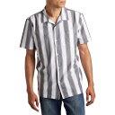 ショッピング半袖シャツ ダークシーズ Dark Seas メンズ 半袖シャツ トップス【rosarito short-sleeve shirt】Gunmetal/White