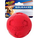 Nerf Dog ナーフドッグ ペットグッズ 犬用品 おもちゃ 【Soccer Squeaker Ball Dog Toy, 3.25-in】Red